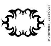 tattoo  stencil ornament. | Shutterstock .eps vector #398347237
