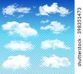 set of transparent different... | Shutterstock .eps vector #398351473