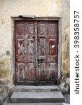 old wooden door at stone town ... | Shutterstock . vector #398358757