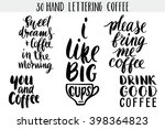 quote. coffee. hand drawn... | Shutterstock .eps vector #398364823
