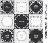 vintage filigree frame set. | Shutterstock .eps vector #398398363