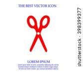 scissors vector icon. simple... | Shutterstock .eps vector #398399377