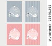 baby shower vector print  | Shutterstock .eps vector #398401993