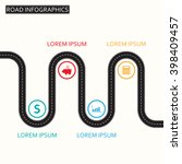 road infographic template.... | Shutterstock .eps vector #398409457