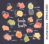 fresh fruits set | Shutterstock .eps vector #398413483