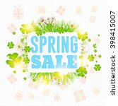 spring sale concept ad...   Shutterstock .eps vector #398415007