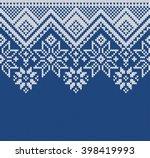 winter sweater design. seamless ... | Shutterstock .eps vector #398419993