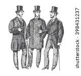 vintage hand drawn gentleman... | Shutterstock .eps vector #398431237