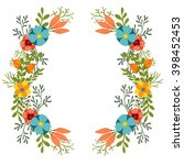 flowers clip art wreath | Shutterstock . vector #398452453