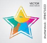 vintage art star icon | Shutterstock .eps vector #398471023
