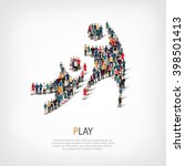 play people crowd | Shutterstock . vector #398501413