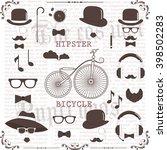 hipster vector set. vintage... | Shutterstock .eps vector #398502283