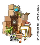 the concept of moving. cargo... | Shutterstock .eps vector #398505037