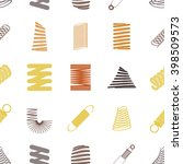 seamless background with springs | Shutterstock .eps vector #398509573