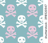 seamless pirate pattern with... | Shutterstock .eps vector #398520547