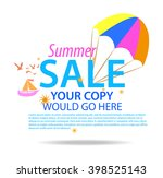 advertisement about the summer... | Shutterstock .eps vector #398525143
