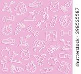 fitness  sports  pink... | Shutterstock .eps vector #398525587