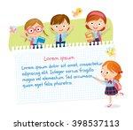 children design with pupils in... | Shutterstock .eps vector #398537113