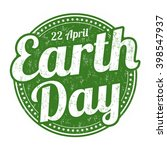 earth day grunge rubber stamp... | Shutterstock .eps vector #398547937