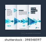 vector abstract brochure flyer... | Shutterstock .eps vector #398548597