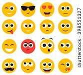 emotional face icons | Shutterstock .eps vector #398551327