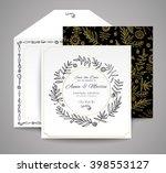 set of wedding cards. floral... | Shutterstock .eps vector #398553127