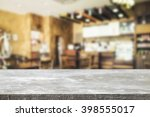 empty wooden desk space and... | Shutterstock . vector #398555017
