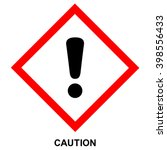 ghs hazard pictogram   caution  ... | Shutterstock .eps vector #398556433