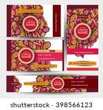 corporate identity vector... | Shutterstock .eps vector #398566123