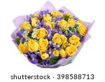 Floral Bouquet Of Yellow Roses...