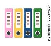 files  binders  office folders. ... | Shutterstock .eps vector #398594827