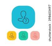 vector illustration of ask user ...