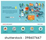 flat colorful web banner... | Shutterstock .eps vector #398607667
