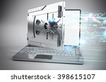 3d illustration of online... | Shutterstock . vector #398615107