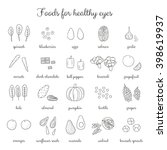 hand drawn outline foods for... | Shutterstock .eps vector #398619937
