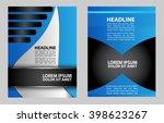 magazine  flyer  brochure and... | Shutterstock .eps vector #398623267