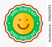smiling orange color cartoon... | Shutterstock .eps vector #398626993