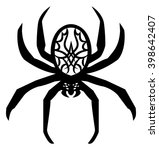 poisonous spider tattoo on... | Shutterstock . vector #398642407