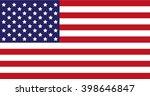 usa flag | Shutterstock .eps vector #398646847
