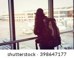 asian woman backpacker solo... | Shutterstock . vector #398647177