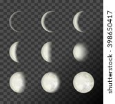 Moon Phases On A Transparent...
