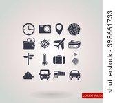 travel icons set | Shutterstock .eps vector #398661733