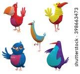 vector cartoon image of a set... | Shutterstock .eps vector #398663473