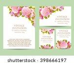 vintage delicate invitation... | Shutterstock . vector #398666197