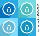 drop icons set vector eps10 ... | Shutterstock .eps vector #398668813