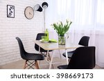 dining table in home interior | Shutterstock . vector #398669173