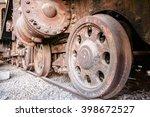 Japanese Old Train Wheel Steam...