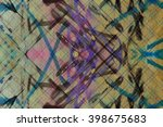 grunge abstract mixed painted... | Shutterstock . vector #398675683