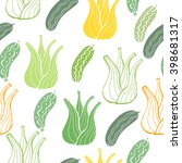 funny handdrawn  seamless... | Shutterstock .eps vector #398681317
