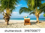 woman relaxing on deckchair ... | Shutterstock . vector #398700877